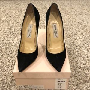 Pre-owned Jimmy Choo Anouk - Black Suede Size: 7.5